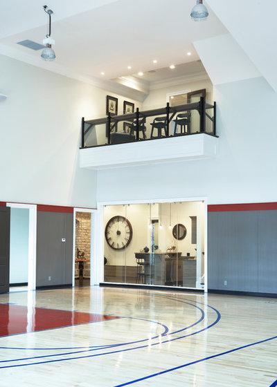 Contemporain Salle de Sport by Milestone Custom Homes