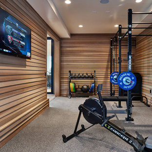 Exemple d'une salle de musculation tendance.