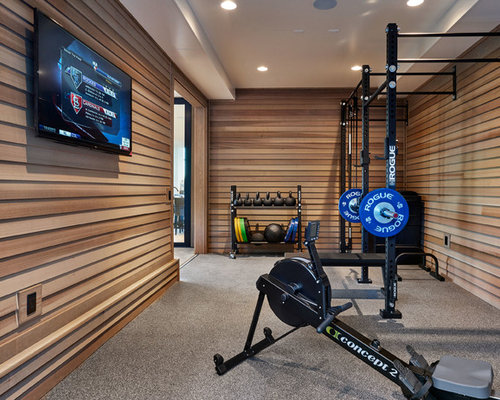 houzz home gym design ideas remodel pictures - Home Gym Design Ideas