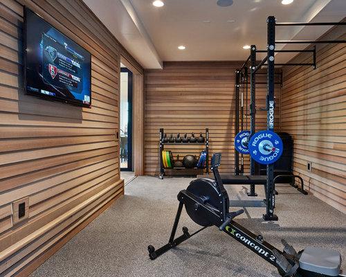 salle de sport contemporaine photos et id es d co de salles de sport. Black Bedroom Furniture Sets. Home Design Ideas