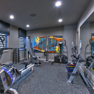 Modern home gym in Omaha.