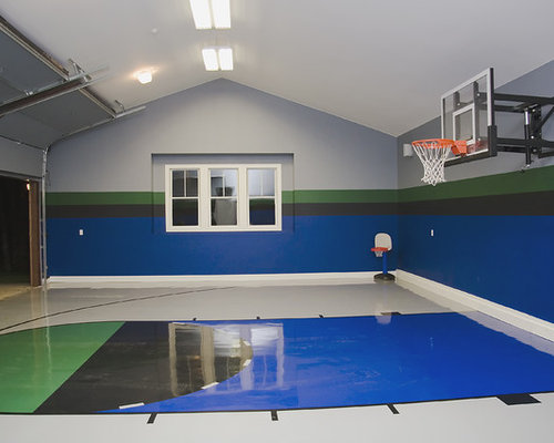 Garage and recreation room home design ideas pictures