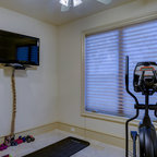 French Country Estate Traditional Home Gym Detroit
