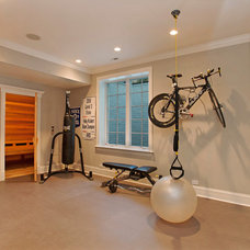 Contemporary Home Gym by Heritage Luxury Builders