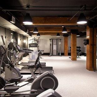75 beautiful industrial home gym pictures  ideas  august