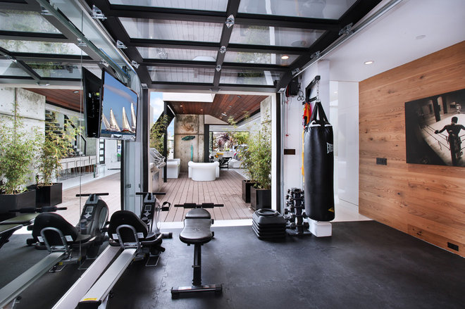 Contemporary Home Gym by Jeri Koegel Photography