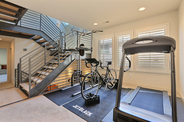 Transitional Home Gym by Denver Image Photography