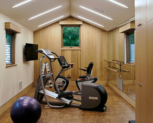 Small exercise room houzz for Small exercise room