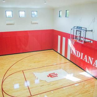 Aménagement d'une salle de sport contemporaine.