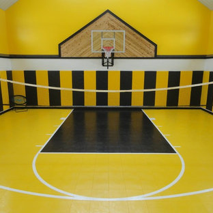 A Home Basketball Court Gym with a Buzzz - by SnapSports