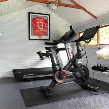 A sleek home gym for The Runner Beans