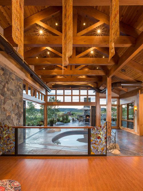 Rustic denver home gym design ideas pictures remodel decor