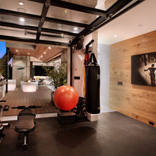 Contemporary Home Gym by Patterson Custom Homes