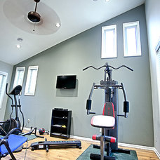 Traditional Home Gym by Frey Construction & Home Improvement, LLC