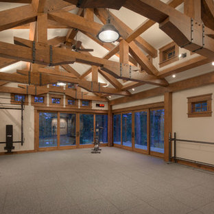 75 most popular luxury rustic home gym design ideas for