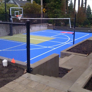 Allweather surface sport court.