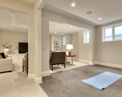 Home Yoga Room Design saveemail trickle creek designer homes 14 Home Yoga Studio Design Photos With Carpet And Beige Walls