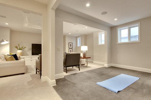 Contemporary Home Gym by Laratta Homes Ltd
