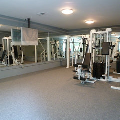 modern home gym by Cablik Enterprises
