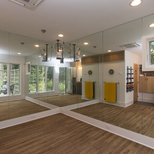 75 most popular modern raleigh home gym design ideas for