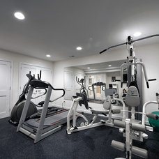 Contemporary Home Gym by Synergy Design & Construction