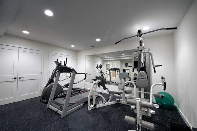 Contemporary Home Gym by Moss Building and Design