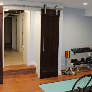 Baker Park kitchen and basement workout room and laundry room addition remodel
