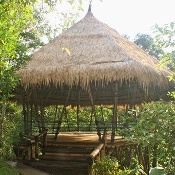 Bamboo yoga space