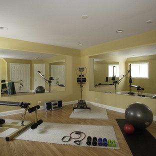 basement exercise room  houzz