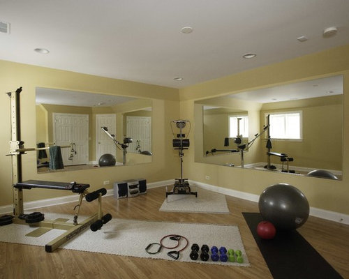Basement exercise room houzz
