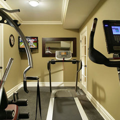 eclectic home gym by Craig Custom Builders