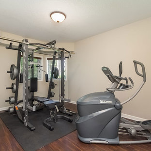 75 beautiful midsized transitional home gym pictures