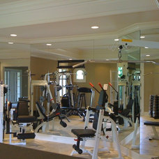 Modern Home Gym by Suburban Glass and Mirror
