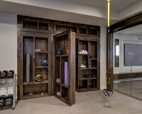 Best home gym design ideas remodel pictures houzz Home gym decor ideas