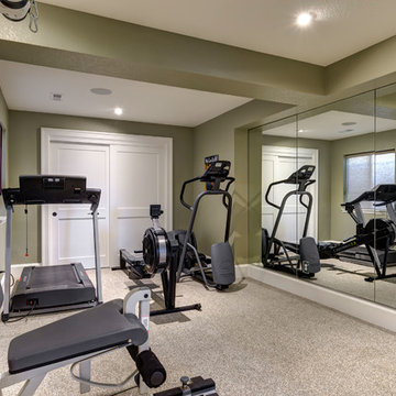 Basement Gym Workout Area