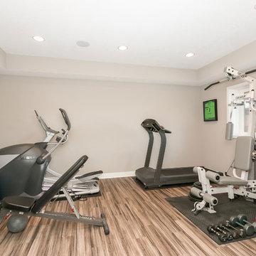Basement Gym Workout Area