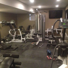 Contemporary Home Gym by Color Concepts Home Improvement