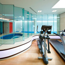 Modern Home Gym by Design by Guncast