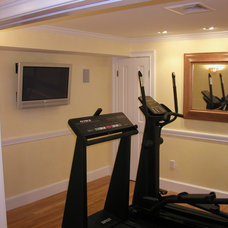 Traditional Home Gym by Donelan Contracting