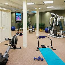 Contemporary Home Gym by Gardner/Fox Associates, Inc