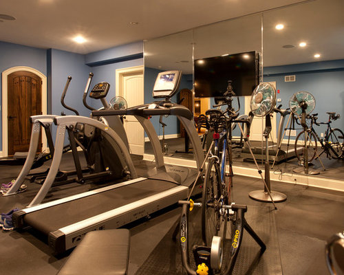 Rustic new york home gym design ideas pictures remodel