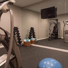 Contemporary Home Gym by Grande Interiors