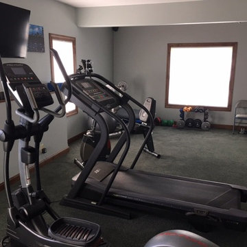 Basement workout room installed in newly constructed home