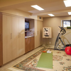 Home Gym by Harrell Remodeling