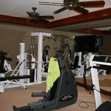 Traditional Home Gym by Berriz Design Build Group