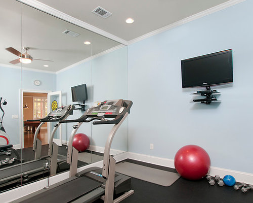 Exercise room houzz Home fitness room design ideas