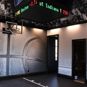 Basketball Themed High End Home Gym