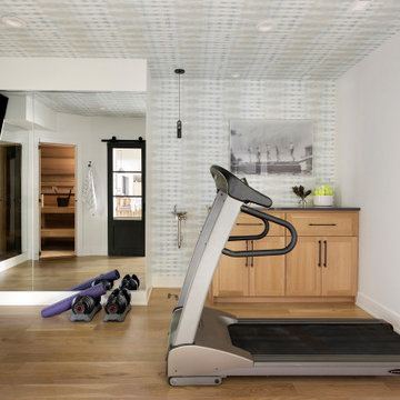 Beautiful & Functional At-Home Fitness Room & Sauna