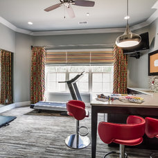 Transitional Home Gym by Eric Ross Interiors, LLC