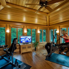 Contemporary Home Gym by The Hammer & Nail, Inc.